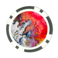 Art Abstract Macro Poker Chip Card Guard