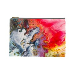 Art Abstract Macro Cosmetic Bag (large)