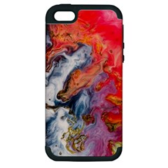 Art Abstract Macro Apple Iphone 5 Hardshell Case (pc+silicone)