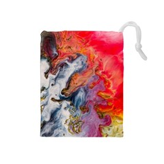 Art Abstract Macro Drawstring Pouches (medium)  by Nexatart