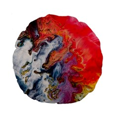Art Abstract Macro Standard 15  Premium Flano Round Cushions