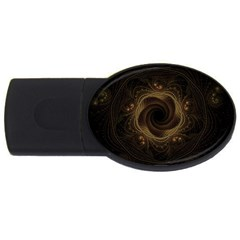 Beads Fractal Abstract Pattern Usb Flash Drive Oval (2 Gb)