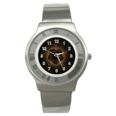 Beads Fractal Abstract Pattern Stainless Steel Watch