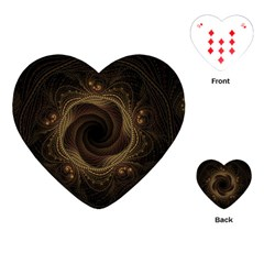 Beads Fractal Abstract Pattern Playing Cards (heart)