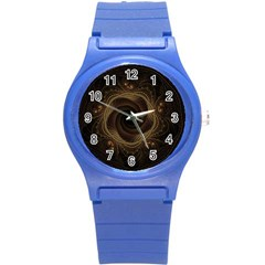 Beads Fractal Abstract Pattern Round Plastic Sport Watch (s)