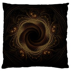 Beads Fractal Abstract Pattern Large Cushion Case (two Sides)