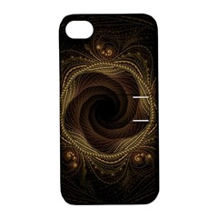 Beads Fractal Abstract Pattern Apple Iphone 4/4s Hardshell Case With Stand