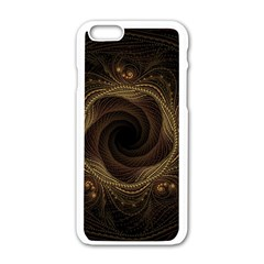 Beads Fractal Abstract Pattern Apple Iphone 6/6s White Enamel Case