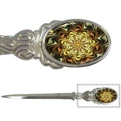 Fractal Flower Petals Gold Letter Openers