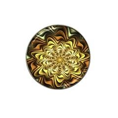 Fractal Flower Petals Gold Hat Clip Ball Marker