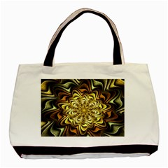 Fractal Flower Petals Gold Basic Tote Bag (two Sides)