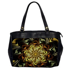 Fractal Flower Petals Gold Office Handbags by Nexatart