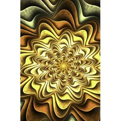 Fractal Flower Petals Gold 5 5  X 8 5  Notebooks