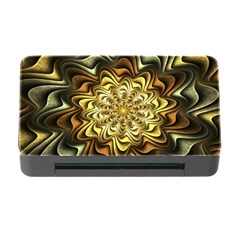 Fractal Flower Petals Gold Memory Card Reader With Cf