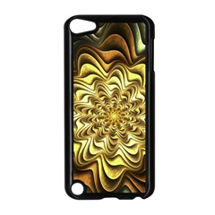 Fractal Flower Petals Gold Apple Ipod Touch 5 Case (black)