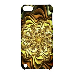Fractal Flower Petals Gold Apple Ipod Touch 5 Hardshell Case With Stand