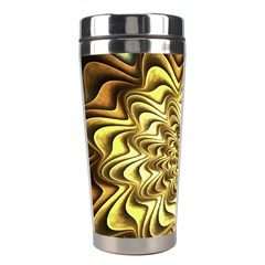 Fractal Flower Petals Gold Stainless Steel Travel Tumblers