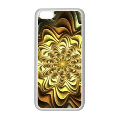 Fractal Flower Petals Gold Apple Iphone 5c Seamless Case (white)