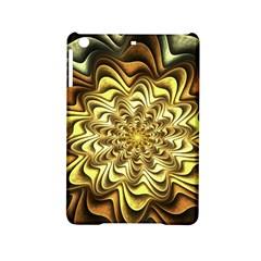 Fractal Flower Petals Gold Ipad Mini 2 Hardshell Cases