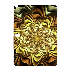 Fractal Flower Petals Gold Galaxy Note 1