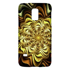 Fractal Flower Petals Gold Galaxy S5 Mini by Nexatart