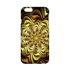 Fractal Flower Petals Gold Apple Iphone 6/6s Hardshell Case
