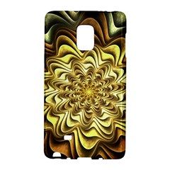 Fractal Flower Petals Gold Galaxy Note Edge