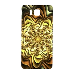 Fractal Flower Petals Gold Samsung Galaxy Alpha Hardshell Back Case