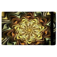 Fractal Flower Petals Gold Apple Ipad Pro 9 7   Flip Case