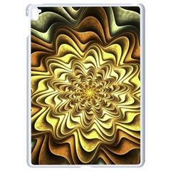 Fractal Flower Petals Gold Apple Ipad Pro 9 7   White Seamless Case by Nexatart