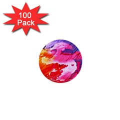 Abstract Art Background Paint 1  Mini Buttons (100 Pack)