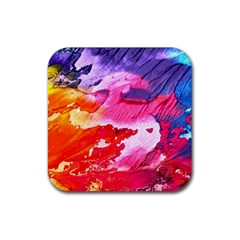 Abstract Art Background Paint Rubber Coaster (square)