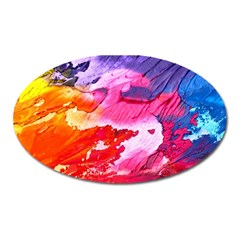 Abstract Art Background Paint Oval Magnet