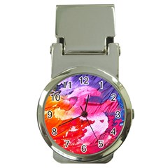 Abstract Art Background Paint Money Clip Watches