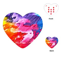 Abstract Art Background Paint Playing Cards (heart)