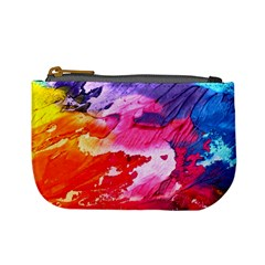Abstract Art Background Paint Mini Coin Purses