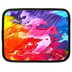 Abstract Art Background Paint Netbook Case (xxl)