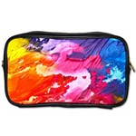 Abstract Art Background Paint Toiletries Bags Front