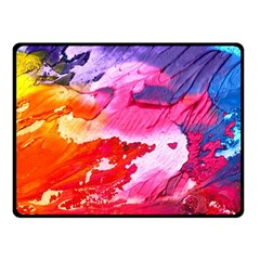 Abstract Art Background Paint Fleece Blanket (small)