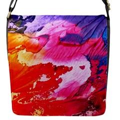 Abstract Art Background Paint Flap Messenger Bag (s)