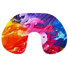 Abstract Art Background Paint Travel Neck Pillows