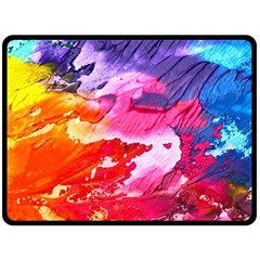 Abstract Art Background Paint Double Sided Fleece Blanket (large)  by Nexatart