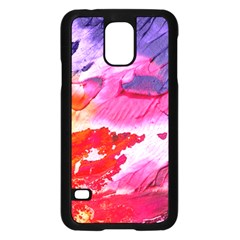Abstract Art Background Paint Samsung Galaxy S5 Case (black)