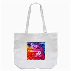 Abstract Art Background Paint Tote Bag (white) by Nexatart