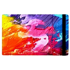 Abstract Art Background Paint Apple Ipad Pro 9 7   Flip Case by Nexatart