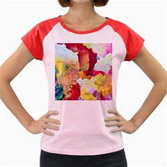 Art Detail Abstract Painting Wax Women s Cap Sleeve T Shirt