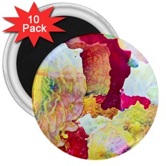 Art Detail Abstract Painting Wax 3  Magnets (10 Pack)