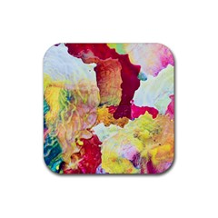 Art Detail Abstract Painting Wax Rubber Coaster (square)