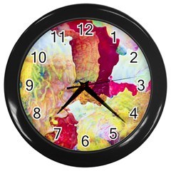 Art Detail Abstract Painting Wax Wall Clocks (black)