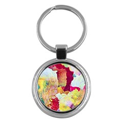 Art Detail Abstract Painting Wax Key Chains (round)